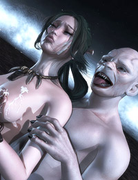 Extreme vampire threesome – hot creatures fuck a cute elfin bitch and feed her with jizz