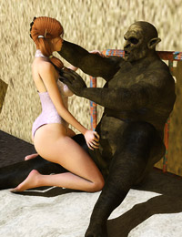 Cute and young sexy 3d girls are having hot monster fuck with skinny zombie
