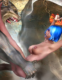 Great 3d monster porn gallery with cute babes drilled by ugly foul creatures in all fucking holes